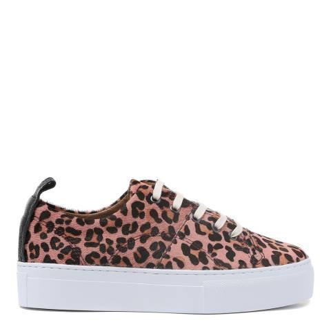 H by Hudson Pink Leopard Pony Daphne Platform Sneakers