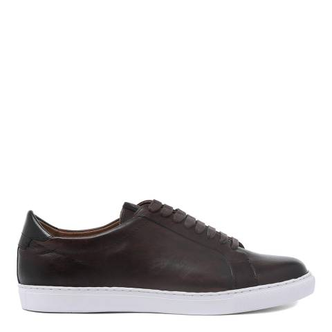 H by Hudson Brown Burnish Leather Alcester Sneakers