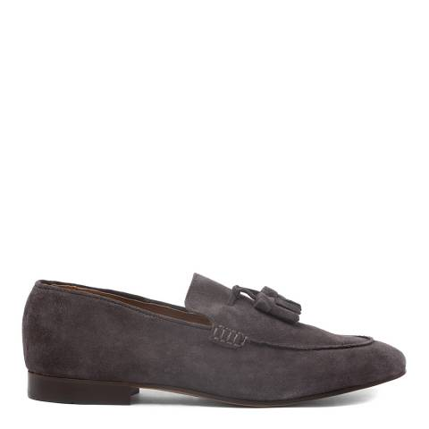 Hudson London Grey Suede Bolton Loafers