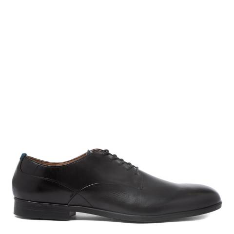 H by Hudson Black Leather Axminster Shoes