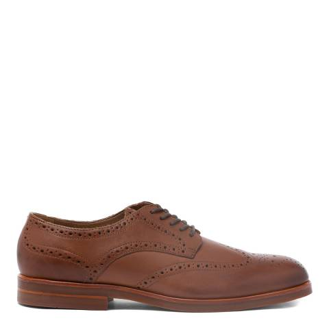 Hudson London Tan Leather Balleter Brogue Shoes