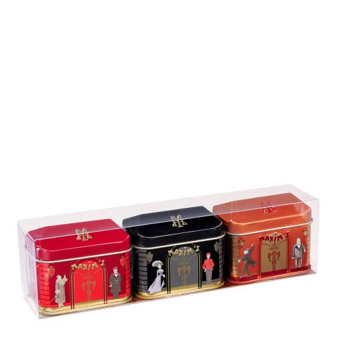 Maxim's de Paris Set of 3 Chocolate Tins Gift Set