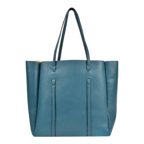 Roberta M Blue Leather Roberta M Tote Bag