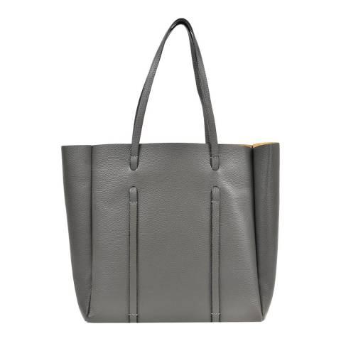 Roberta M Grey Leather Roberta M Tote Bag