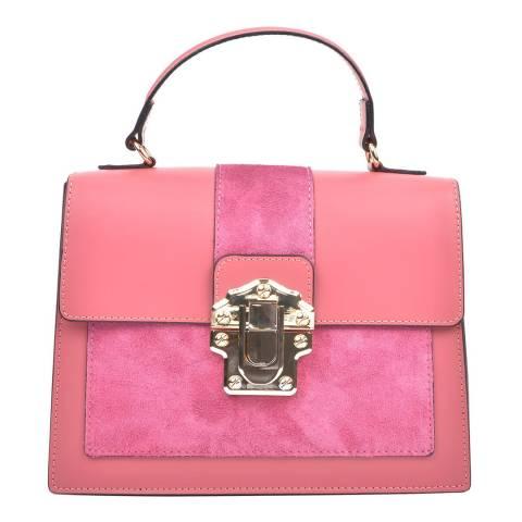 Isabella Rhea Pink Leather Isabella Rhea Top Handle Bag