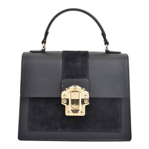 Isabella Rhea Black Leather Isabella Rhea Top Handle Bag