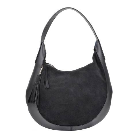 Isabella Rhea Black Leather Isabella Rhea Shoulder Bag
