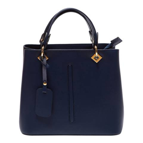 Roberta M Blue Leather Roberta M Top Handle Bag