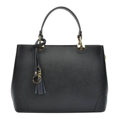 Isabella Rhea Black/Red  Leather Isabella Rhea Top Handle Bag