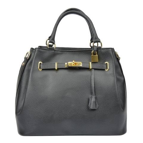 Isabella Rhea Black Leather Isabella Rhea Top Handle Bag