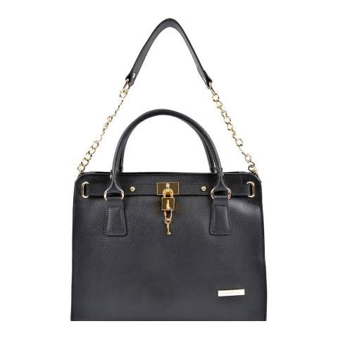 Roberta M Black Leather Roberta M Shoulder Bag