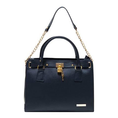 Roberta M Blue Leather Roberta M Shoulder Bag