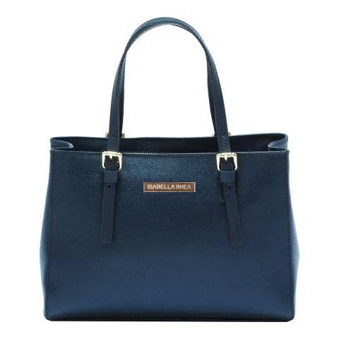 Isabella Rhea Blue Leather Isabella Rhea Tote