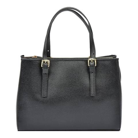 Isabella Rhea Black Leather Isabella Rhea Tote
