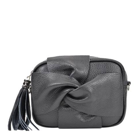 Roberta M Black Leather Roberta M Bow Shoulder Bag