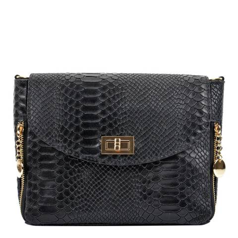 Roberta M Black Leather Roberta M Shoulder Bag