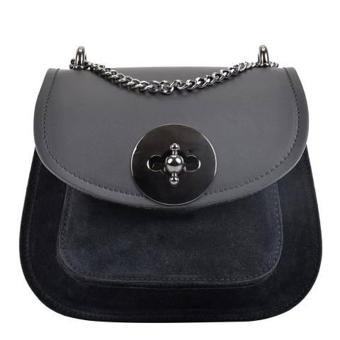 Isabella Rhea Black Leather Isabella Rhea Shoulder Bag