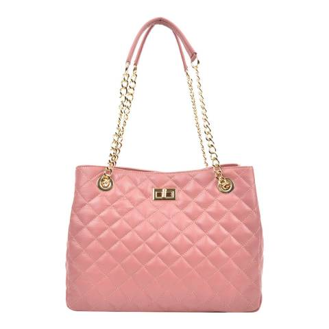 Isabella Rhea Pink Leather Isabella Rhea Shoulder Bag