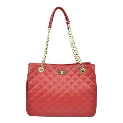 Isabella Rhea Red Leather Isabella Rhea Shoulder Bag