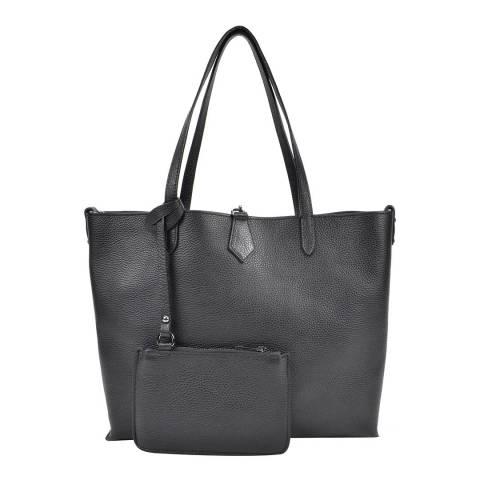 Roberta M Black Leather Roberta M Tote Bag