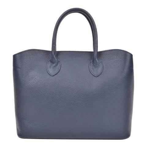 Isabella Rhea Blue Leather Isabella Rhea Top Handle Bag