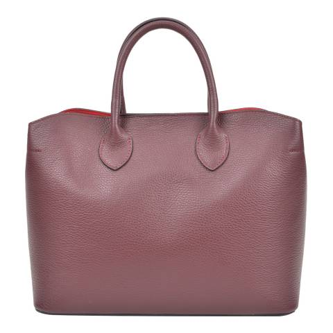Isabella Rhea Bordeaux Leather Isabella Rhea Top Handle Bag