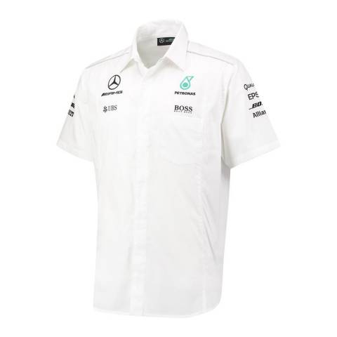 Mercedes AMG-Petronas Motorsport Men's White Short Sleeve Shirt