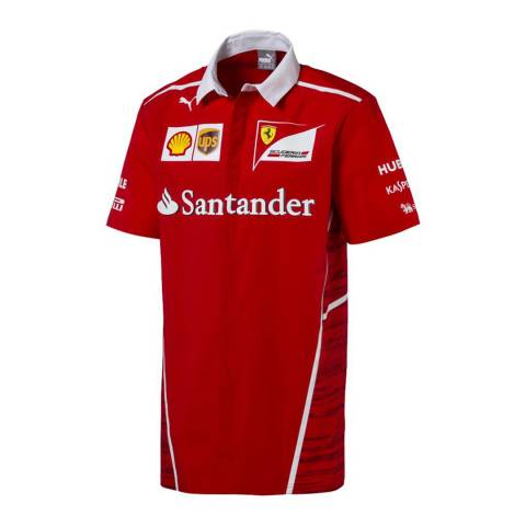 Scuderia Ferrari Men's Red Team Shirt