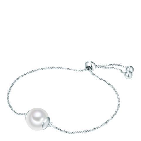 Nova Pearls Copenhagen Silver Plated/White Organic Pearl Bracelet