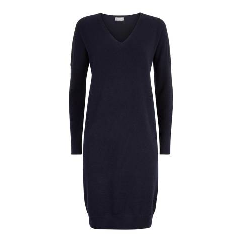 Jaeger Navy Cashmere Blend Dress