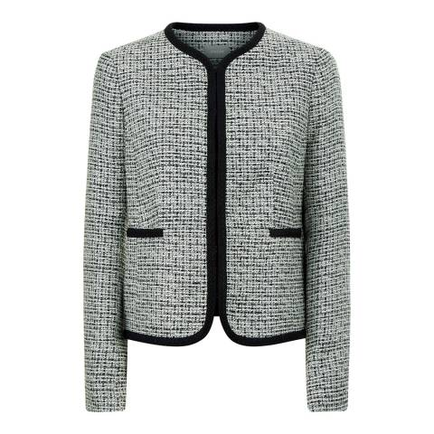 Jaeger Black/Cream Tweed Jacket