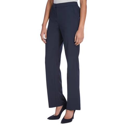 Jaeger Navy Straight Leg Work Trouser