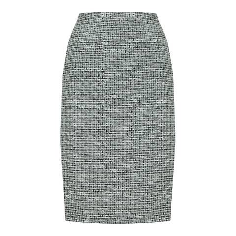 Jaeger Black/Cream Tweed Skirt