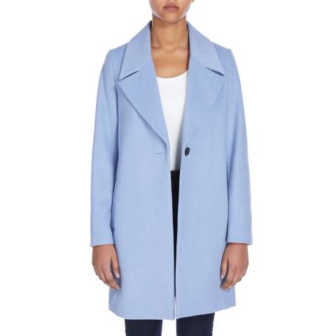 Jaeger Blue Wide Collar Cocoon Coat