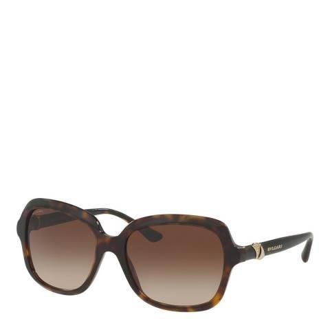 Bvlgari Women's Brown Havana Bvlgari Sunglasses 57mm