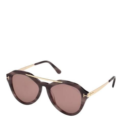 Tom Ford Women's Brown Havana Tom Ford Sunglasses 54mm