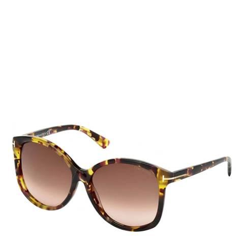 Tom Ford Women's Brown Havana Tom Ford Sunglasses 59mm