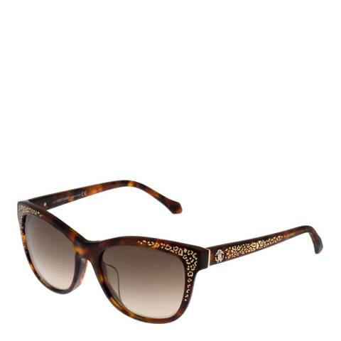 Roberto Cavalli Women's Brown Havana Roberto Cavalli Sunglasses 55mm