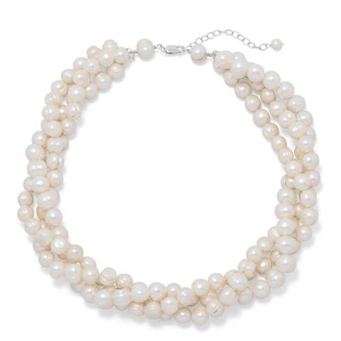 White label by Liv Oliver Silver Plated Pearl Necklace