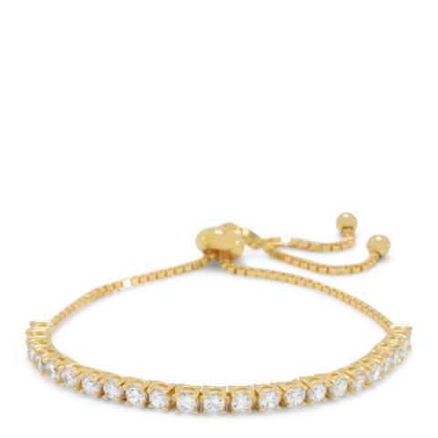 Black Label by Liv Oliver 18K Gold Plated Line Adjustable Bracelet
