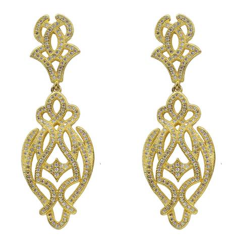 Black Label by Liv Oliver Gold Filigree Earrings