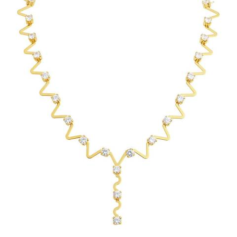 Black Label by Liv Oliver 18K Gold Plated Embellished Necklace