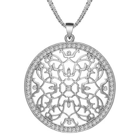 Black Label by Liv Oliver Silver Plated Necklace