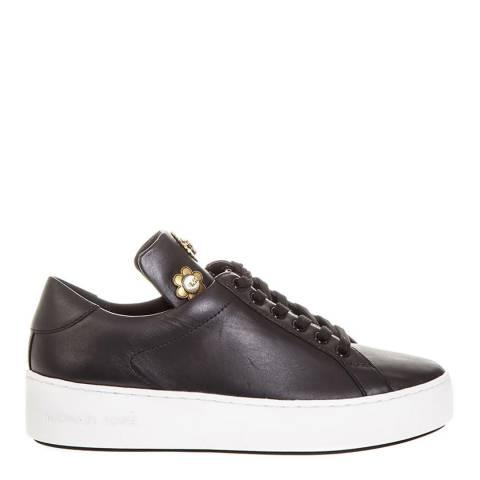 MICHAEL Michael Kors Black Leather Mindy Sneakers