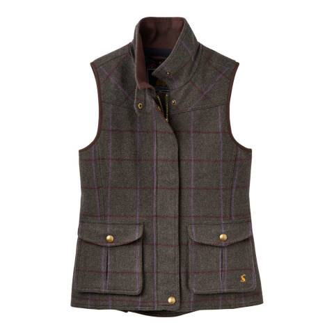 Joules Green Check Fieldmoor Gilet
