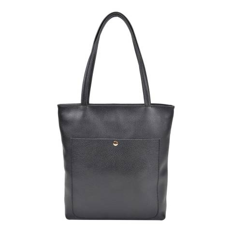 Roberta M Black Leather Roberta M Top Handle Bag