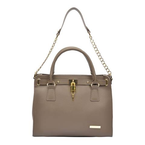 Roberta M Brown Leather Roberta Crossbody Bag