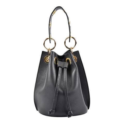 Roberta M Black Leather Roberta M Top Tote Bag