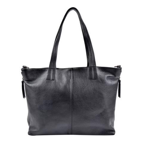 Roberta M Black Leather Roberta Tote Bag