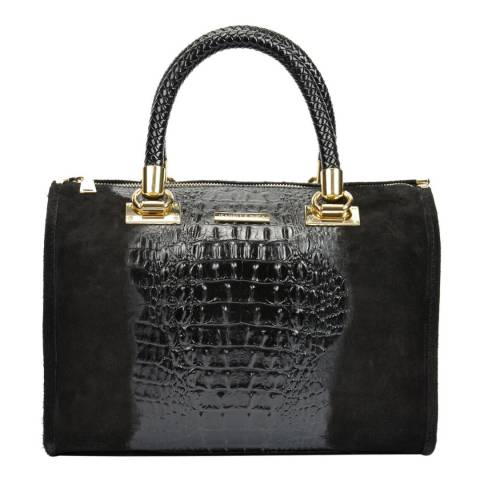 Isabella Rhea Black Leather Isabella Rhea Shopper Bag